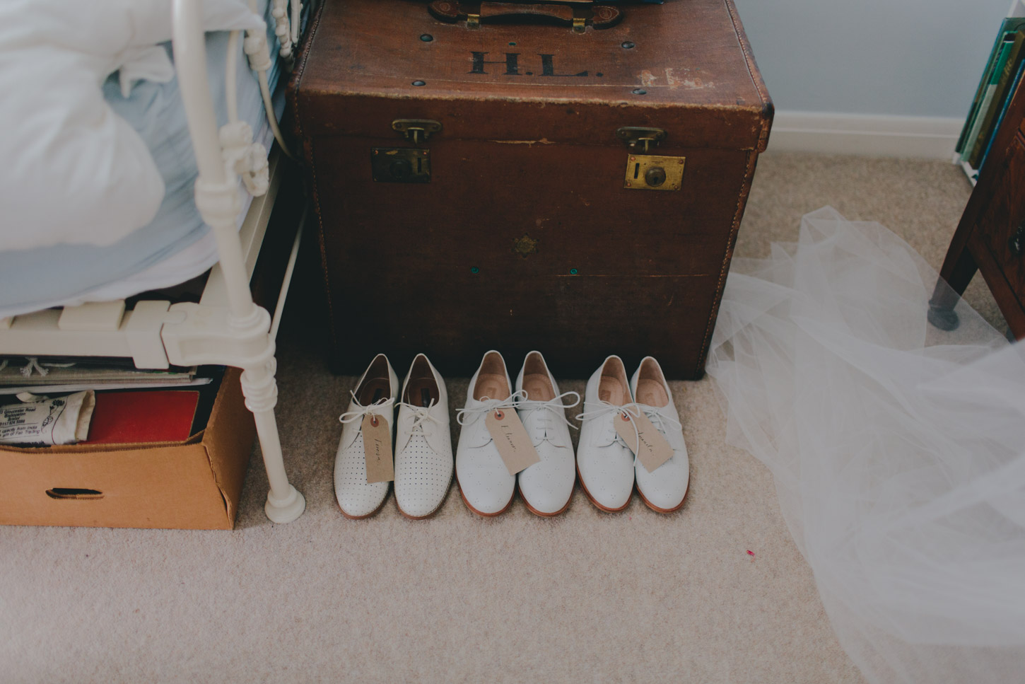 wedding shoes lined up