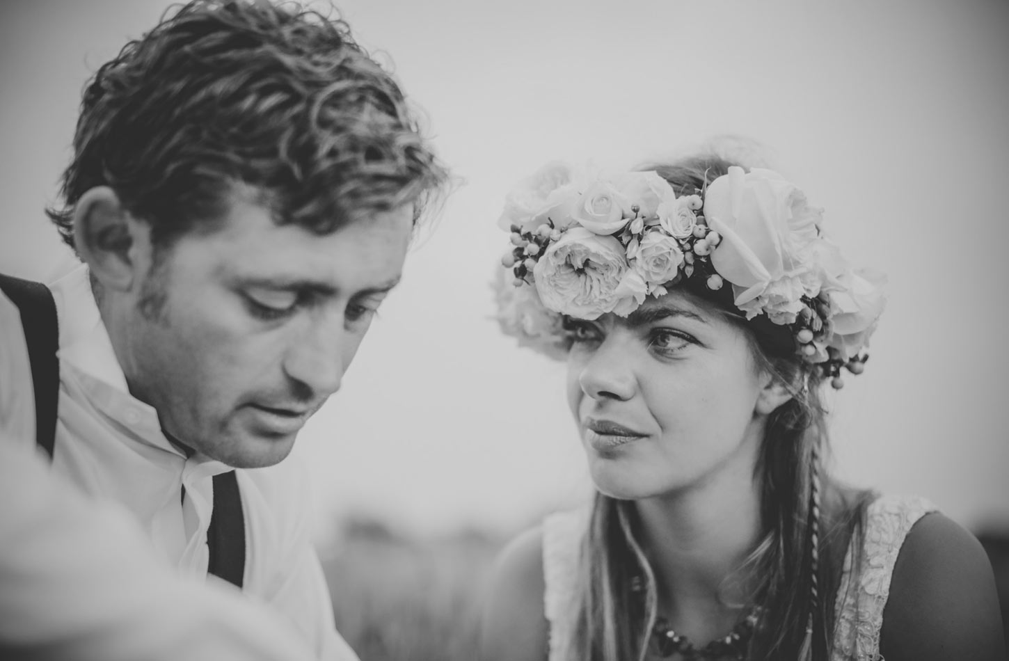 black and white image of Bride and Groom by Tori Hancock Photography